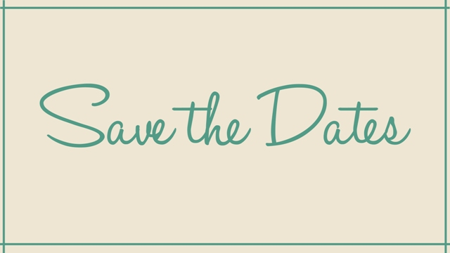 Ladies – Save the Dates!