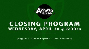 04-30-14 Awana Closing Program