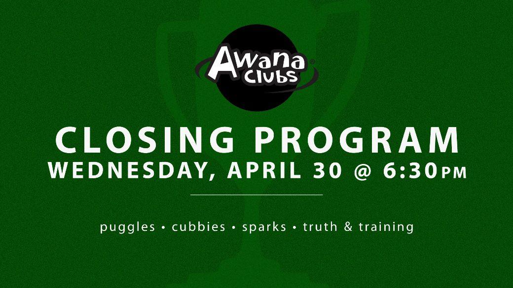 AWANA Closing Program