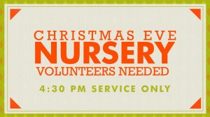12-24-14 Christmas Eve Services Nursery