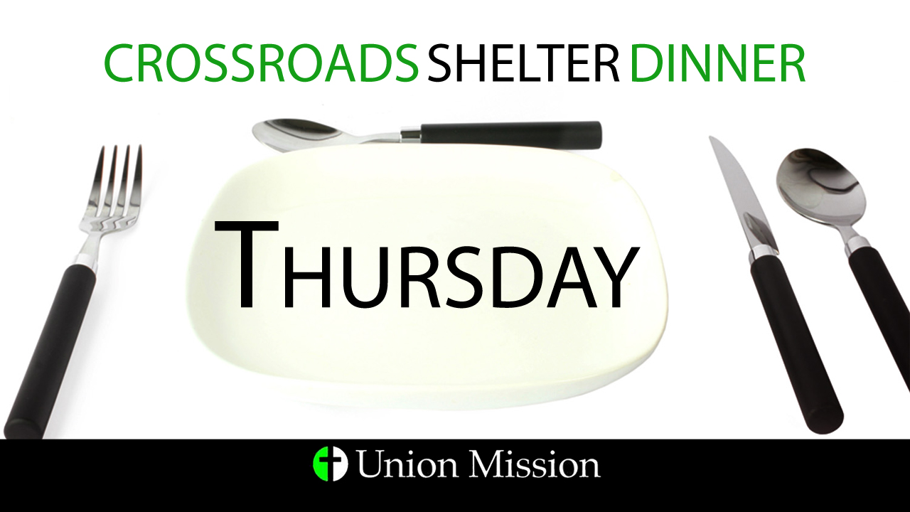 Crossroads Shelter Dinner (Oct. 22)