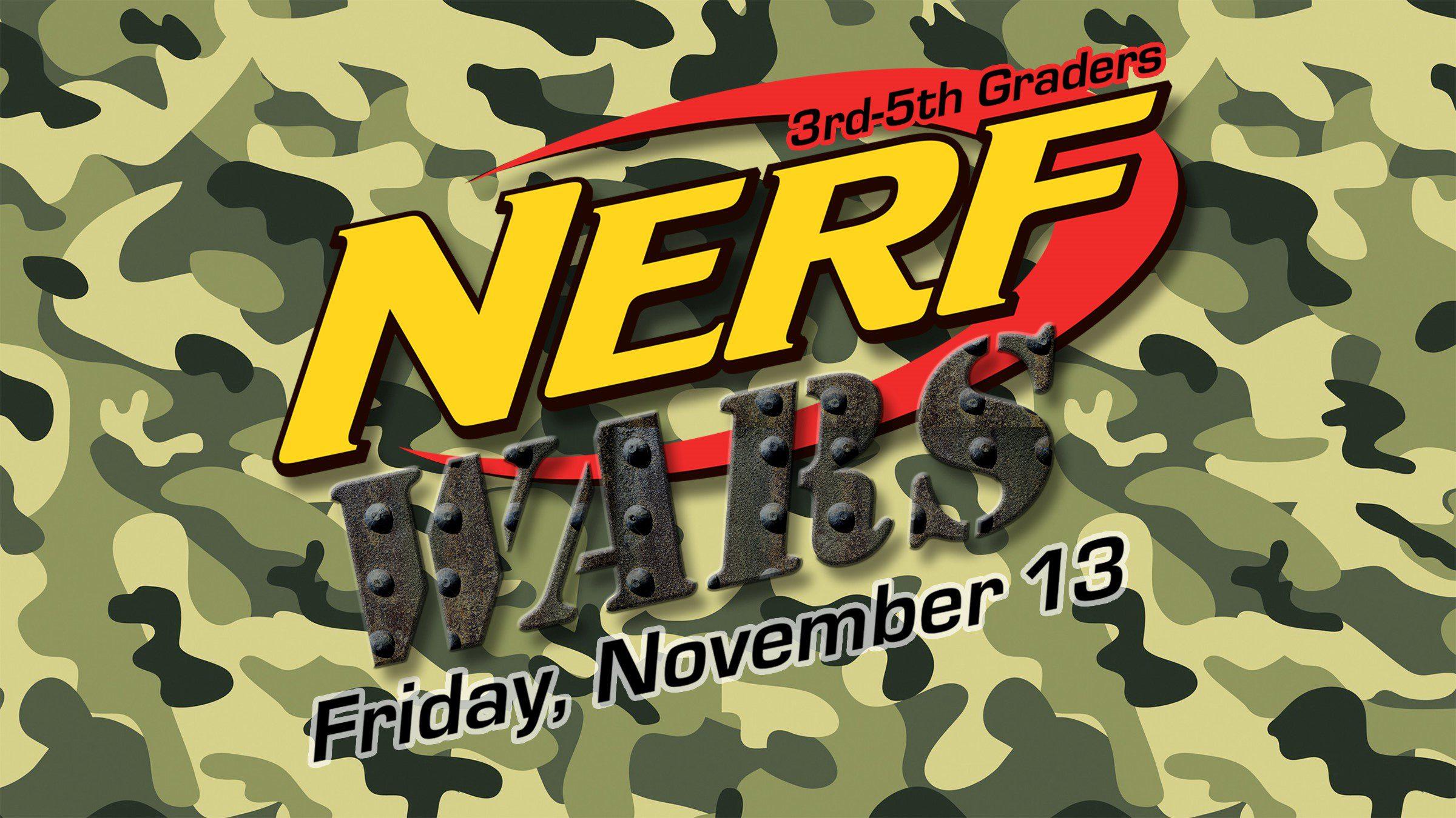 Nerf Wars (3rd-5th)