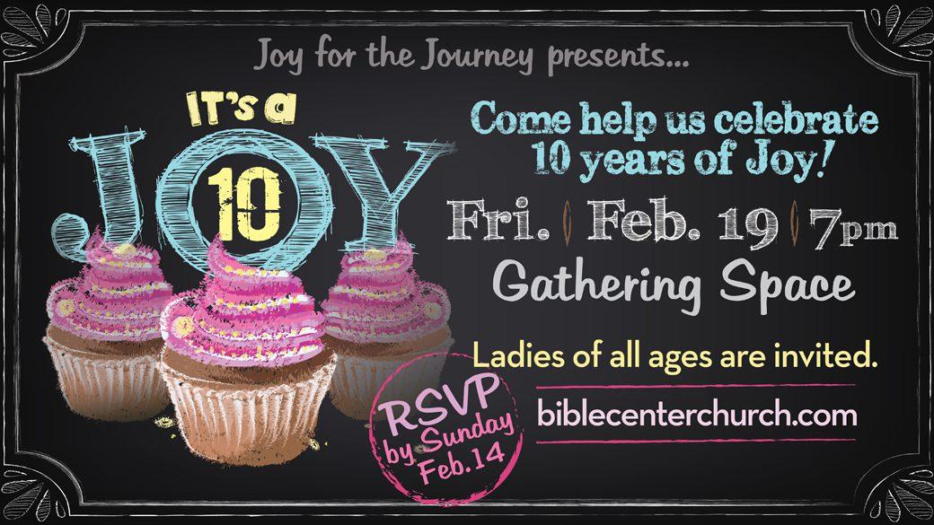 Joy for the Journey Celebrates 10 Years!