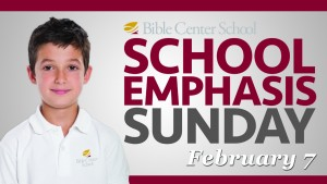 16 School Emphasis Sunday