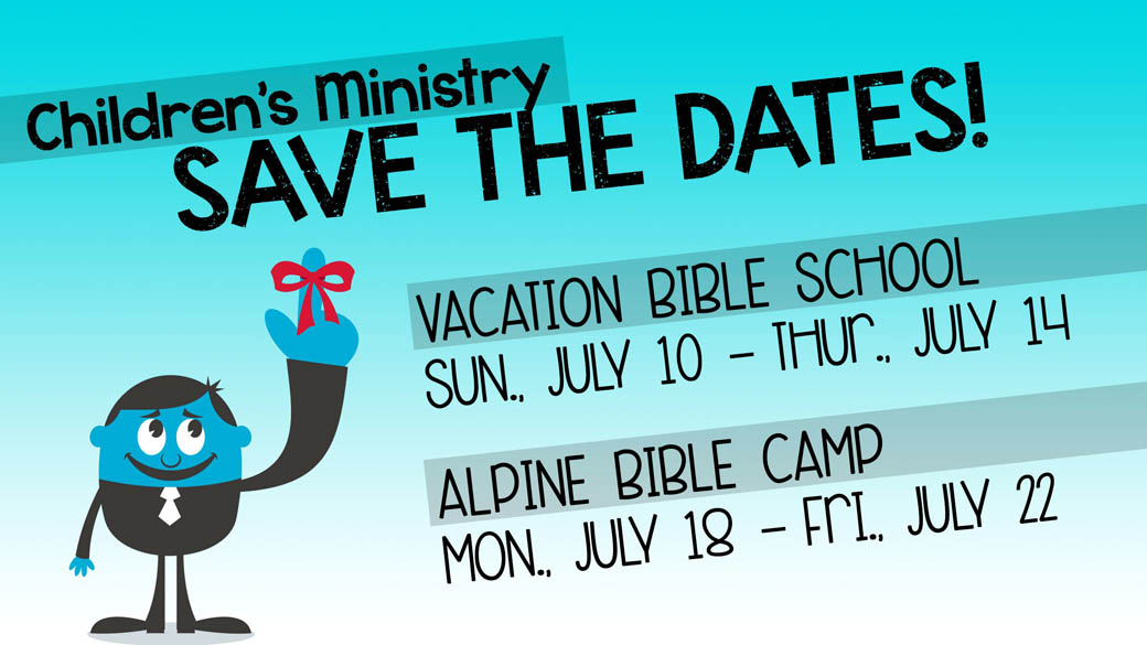 Children's Ministry: Save the Dates