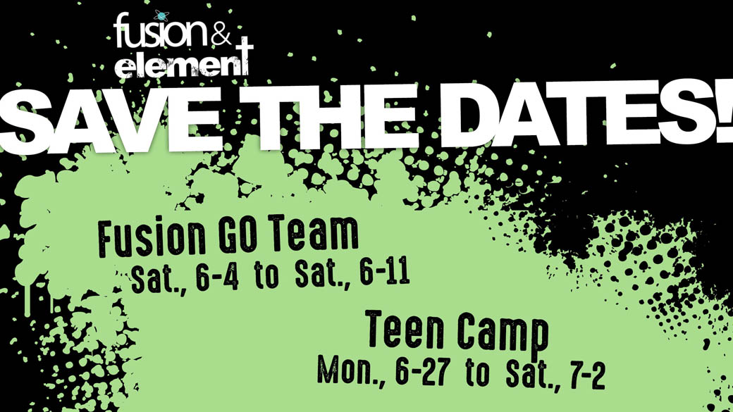 Fusion/Element: Save the Dates