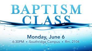 16 Baptism Class