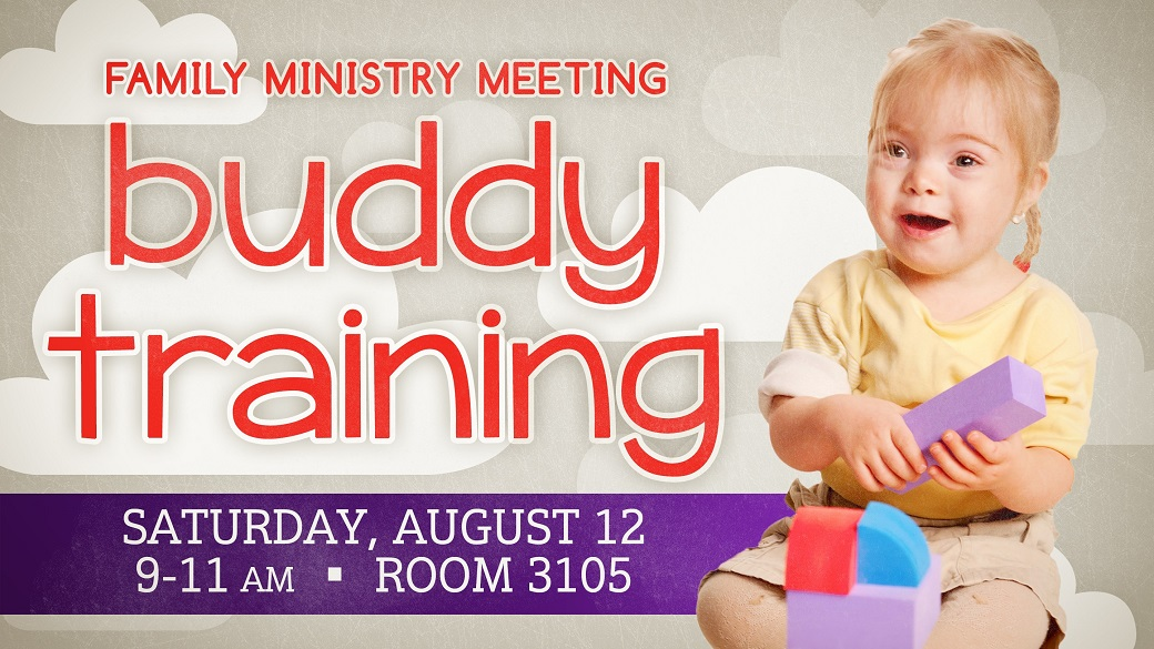 Special Needs Ministry: Buddy Training