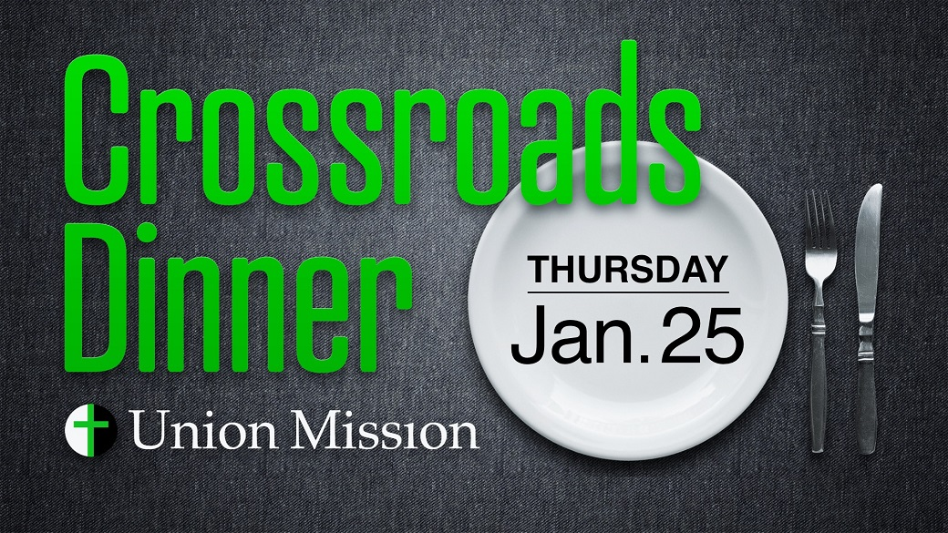 Crossroads Shelter Dinner (January 25)