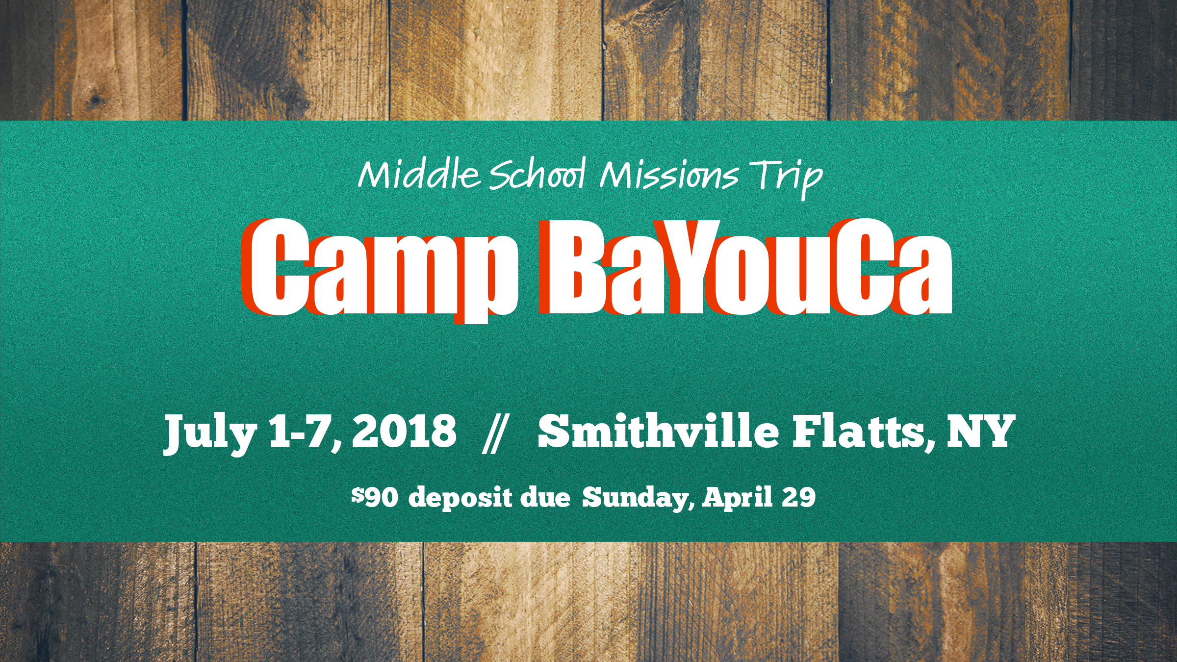 Middle School Missions Trip