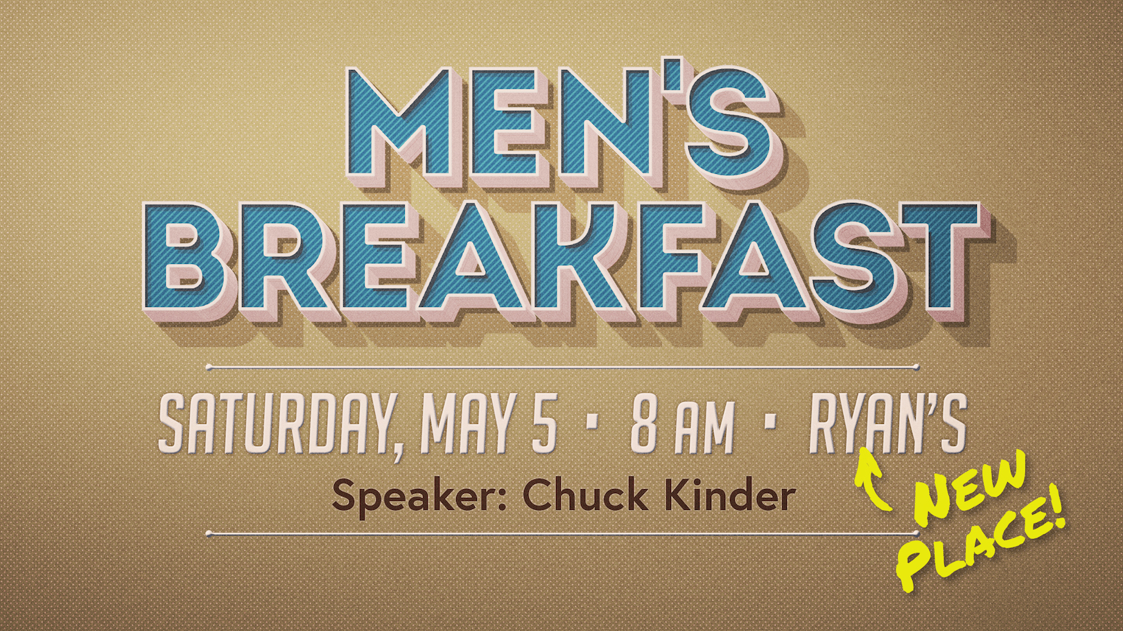 Men's Breakfast – New Day & Time!