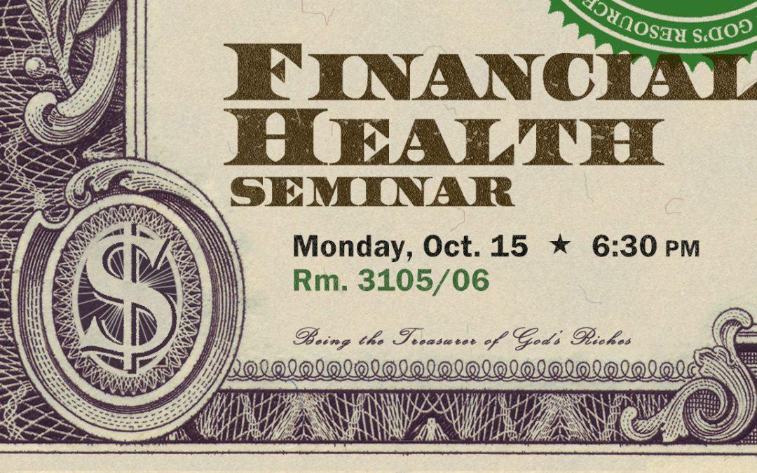 Financial Health Seminar