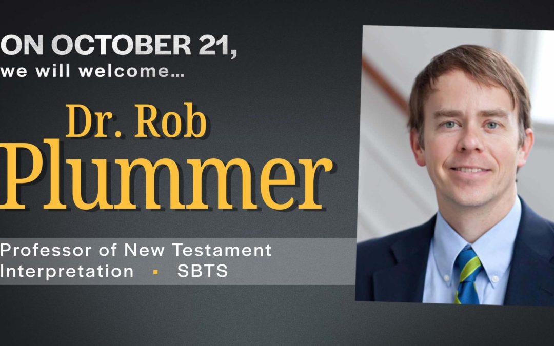 Guest Speaker: Dr. Robert Plummer