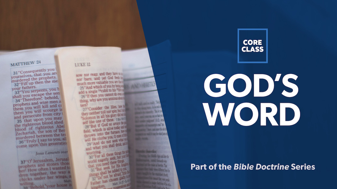 God's Word: Canonicity, Inspiration, Inerrancy Image