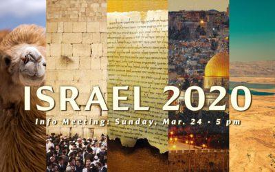 Israel Trip 2020: Info Meeting