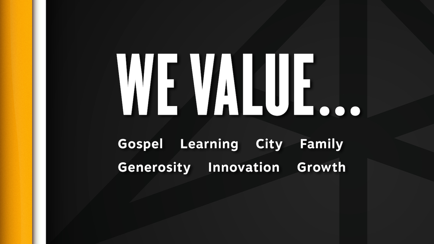 We Value...