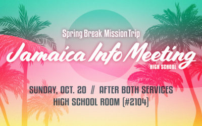 High School Mission Trip Info Meeting