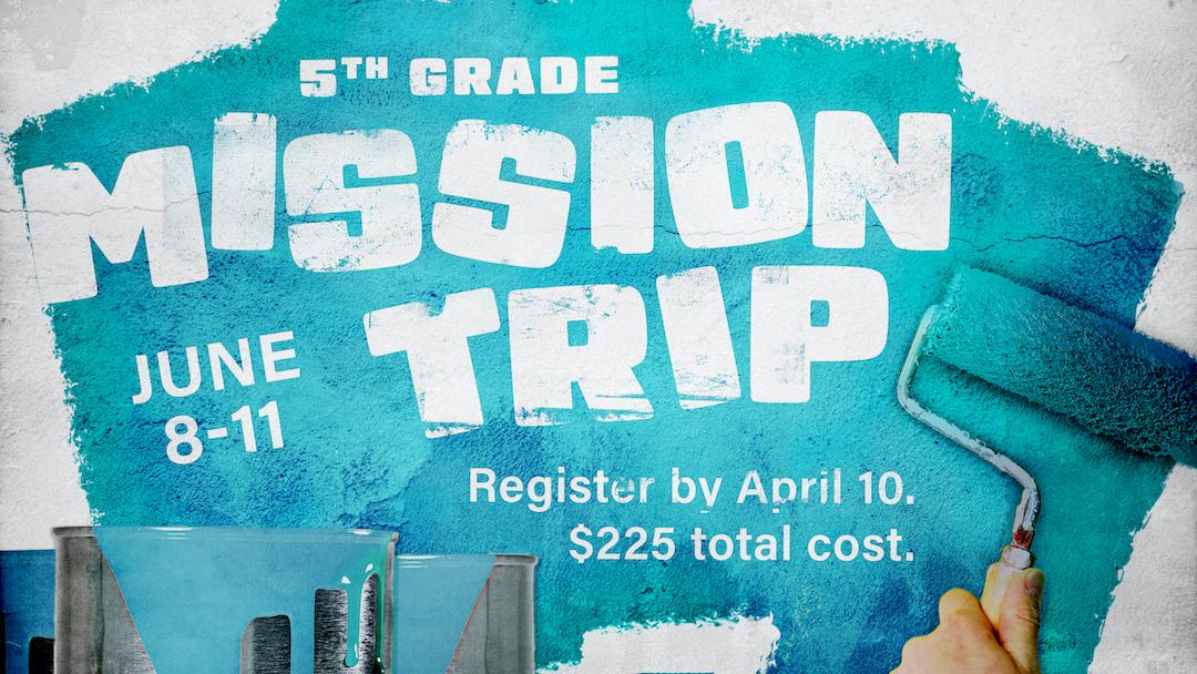 5th Grade Mission Trip