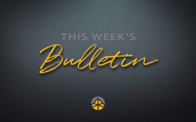 Weekend Bulletin (August 6-9, 2020)