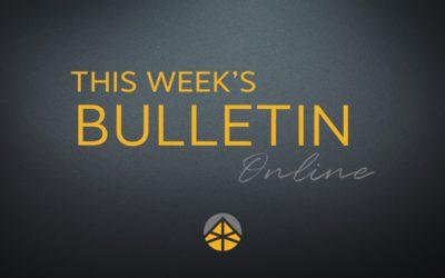 Bulletin (March 22, 2020)