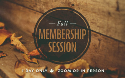 Fall Membership Session