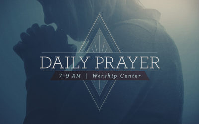 Worship Center Available for Prayer