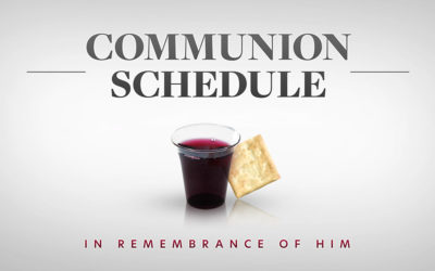 Communion Next Week