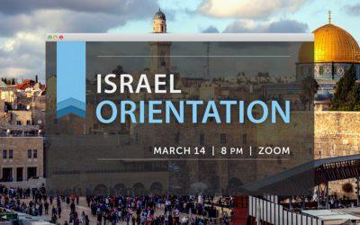 Israel Trip 2022 | Orientation Meeting