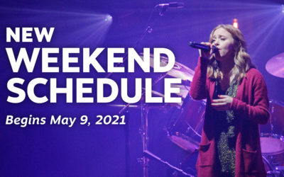 New Weekend Schedule Begins May 9
