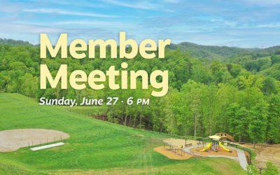 Summer Member Meeting