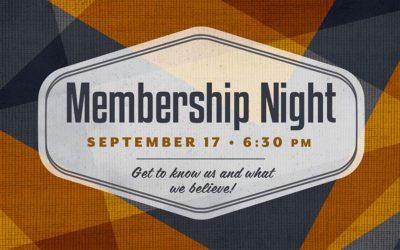 Membership Night | Save the Date!