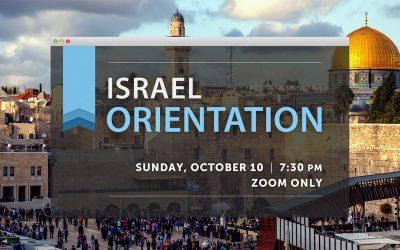 Israel Trip Orientation Meeting